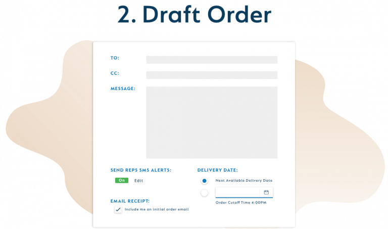 Draft an Order Request on SevenFifty