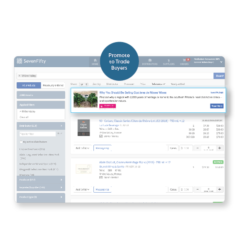 Boost your profile pages and lists with SevenFifty ads